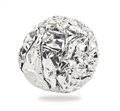 Aluminium ball on white background Royalty Free Stock Image