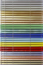 Aluminium blinds metallic in all colors of rainbow Royalty Free Stock Photos