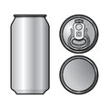 Aluminium can container beer water beverage drink Stock Images