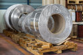 Aluminium coils rolled products or in storage area conductor raw material Stock Images