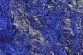 Aluminium foil texture background blue color textured aluminum Royalty Free Stock Photo