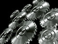 Aluminium gears Stock Photos