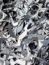Aluminium and metal scrap pile in recycle factory Royalty Free Stock Photo
