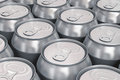 Aluminum beer cans Stock Photos