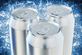 Aluminum beer cans Royalty Free Stock Photos
