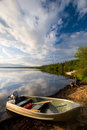 Aluminum Boat Royalty Free Stock Photo