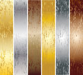 Aluminum, bronze and brass stitched Royalty Free Stock Photo