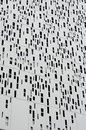 Aluminum cladding second skin Royalty Free Stock Photo