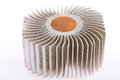 Aluminum cpu cooler heat sink on white Stock Images