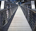 Aluminum dock ramp Stock Images