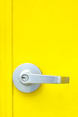 Aluminum door knob Stock Images