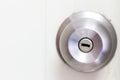 Aluminum door knob close up Royalty Free Stock Photos