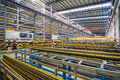 Aluminum factory workshop on august several workers work in foshan wei chang in recent years china s economy continues to grow is Stock Photography