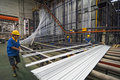Aluminum factory workshop on august several workers work in foshan wei chang in recent years china s economy continues to grow is Royalty Free Stock Photos