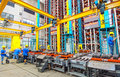 Aluminum factory workshop on july several workers work in foshan wei chang in recent years china s economy continues to grow is Stock Photos