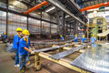 Aluminum factory workshop on july several workers work in foshan wei chang in recent years china s economy continues to grow is Royalty Free Stock Image