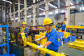 Aluminum factory workshop on july several workers work in foshan wei chang in recent years china s economy continues to grow is Stock Photography