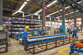 Aluminum factory workshop on july several workers work in foshan wei chang in recent years china s economy continues to grow is Royalty Free Stock Photography