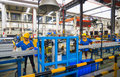 Aluminum factory workshop on july several workers work in foshan wei chang in recent years china s economy continues to grow is Royalty Free Stock Images