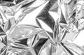 Aluminum foil full frame take of a sheed of crumpled Stock Image