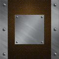 Aluminum frame bolted to a carbon fiber Royalty Free Stock Photography