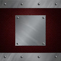 Aluminum frame bolted to a carbon fiber Stock Photography