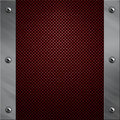 Aluminum frame bolted to a carbon fiber Royalty Free Stock Images