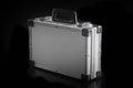 Aluminum metal case box Royalty Free Stock Photo
