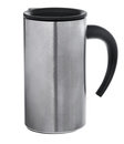 Aluminum mug isolated on white Royalty Free Stock Photo