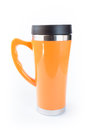 Aluminum orange mug Stock Photo