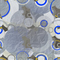 Aluminum paper seamless pattern with abstract circles and rings Royalty Free Stock Photo