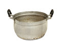 Aluminum pot with clipping path isolated on white background Royalty Free Stock Photos