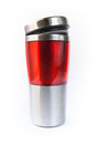 Aluminum red mug Royalty Free Stock Photos