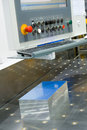 Aluminum sawing Royalty Free Stock Images