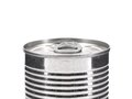 Aluminum tin can on a white background. Royalty Free Stock Photo
