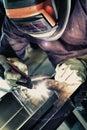 Aluminum welding Royalty Free Stock Photo