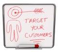 Alveje seus clientes - seque a placa do Erase Imagem de Stock Royalty Free