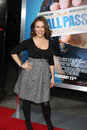 Alyssa milano los angeles feb arrives at the hall pass premiere at arclight theaters on february in los angeles ca Stock Images