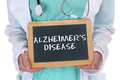 Alzheimers disease alzheimer alzheimer s ill illness healthy hea health doctor with sign Royalty Free Stock Image