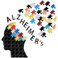 Alzheimers disease icon puzzle head concept vector illustration Royalty Free Stock Photography