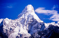 Ama dablam in the everest region of the nepal himalaya mountain range Royalty Free Stock Photography