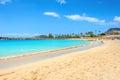 Amadores beach. Gran Canaria, Canary islands, Spain Royalty Free Stock Photo