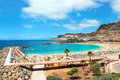 Amadores beach view over on gran canaria spain Stock Photos