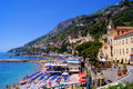 Amalfi beaches view over the of italy Stock Images