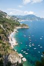 Amalfi coast italy panoramic view of the Stock Image