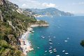 Amalfi coast italy panoramic view of the Royalty Free Stock Photo