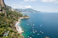 Amalfi coast italy panoramic view of the Stock Photos