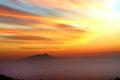 Amalfi Coast Sunset Italy Royalty Free Stock Photo