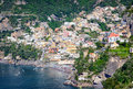 Amalfi coast typical old town at the in italy Stock Images