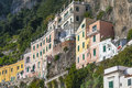 Amalfi coast view from the town of italy Stock Photos